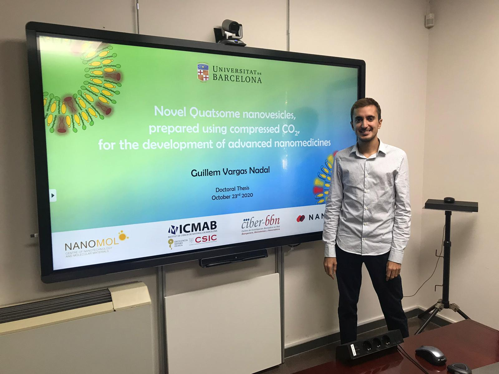 Congratulations Doctor Guillem Vargas, our new graduate!