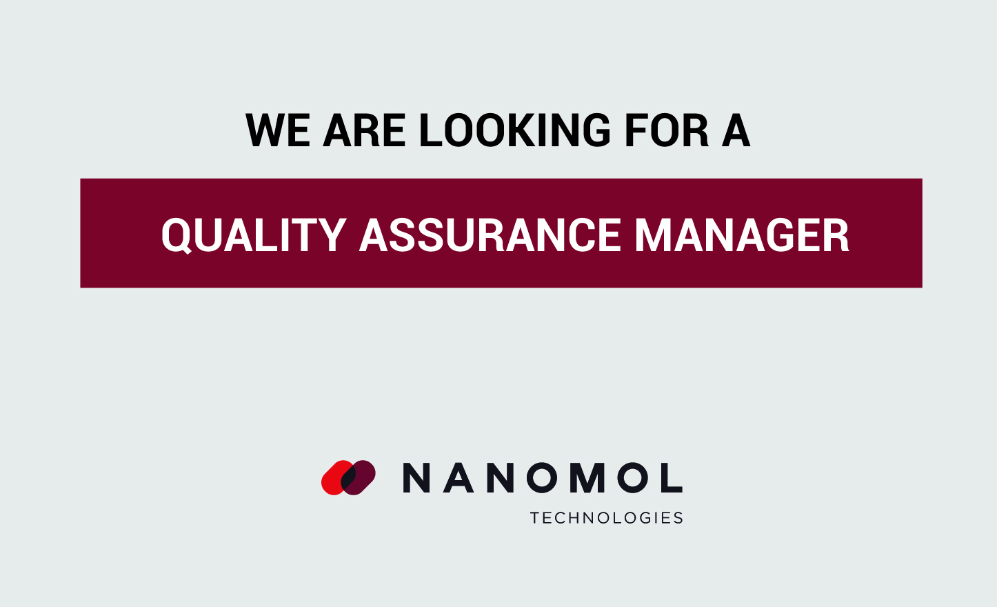We Are Hiring a Quality Assurance Manager