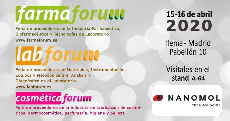 Nanomol Technologies are going to participate in Farmaforum 2020